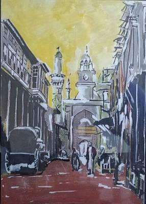 Baghdad City Painting - Old City  by Zeyad Ibraheem