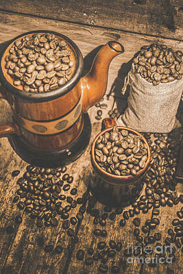 Messy Photograph - Old Coffee Brew House Beans by Jorgo Photography - Wall Art Gallery