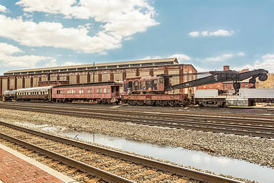 Old Conrail Crane Print by Eclectic Art Photos