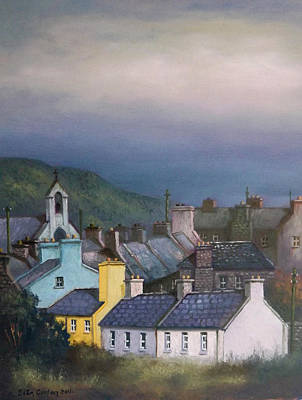 Old Copper Mining Town Print by Sean Conlon