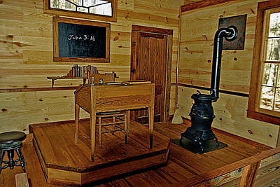 Old Country School Room Print by Ralph  Perdomo