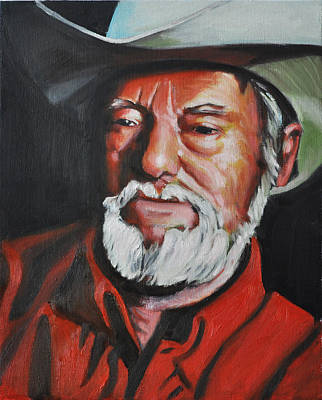 Phil Hopkins Painting - Old Cowhand by Phil Hopkins
