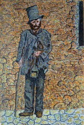 Colored Pencil Painting - Old-crafts-the-lamplighter-italy-1800 by Vincent Consiglio