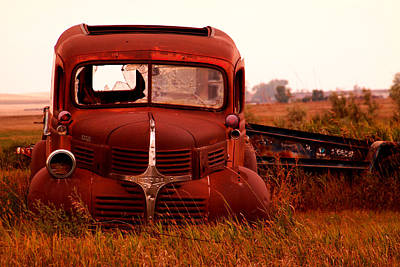 Relic Glass Photograph - Old Dodge  by Jeff Swan