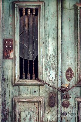 Old Door Detail Print by Carlos Caetano
