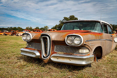 Cars Photograph - Old Edsel by Tim Stanley