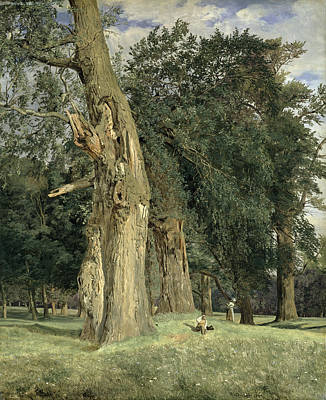 Park Scene Painting - Old Elms In Prater by Ferdinand Georg Waldmuller