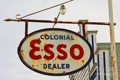 Esso Photograph - Old Esso Sign  3840 by Jack Schultz
