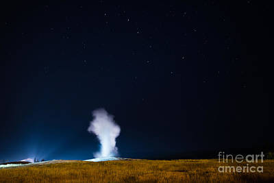 Old Faithful Big Dipper Print by Michael Ver Sprill