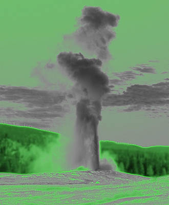 Geyser Digital Art - Old Faithful Geyser by Vijay Sharon Govender
