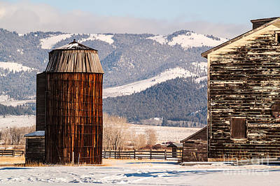 Old Farm Buildings Print by Sue Smith