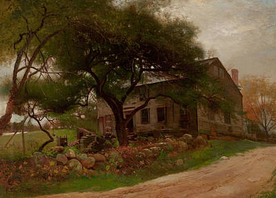 Old Farm House In The Catskills Print by Arthur Parton
