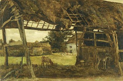 Painting - Old Farm Shed Near Birkdale by William Davis