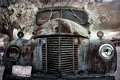 Flypaper Textures Photograph - Old Farm Truck II by Christine Hauber