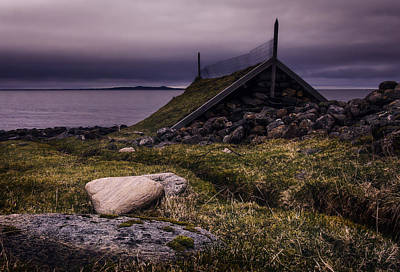 Noruega Photograph - Old Fashioned Boathouse by Iwan Groot