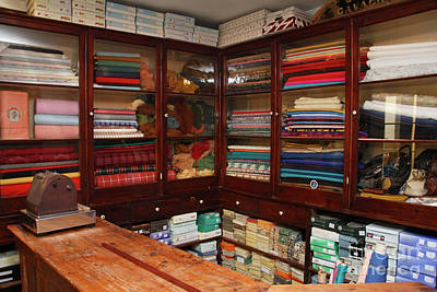 Fashion For Sale Photograph - Old-fashioned Fabric Shop by Gaspar Avila