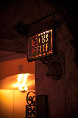Photograph - Old Fashioned Ladies Parlor Sign by Carolyn Marshall