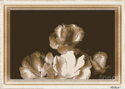 Old Fashioned Roses Print by Marsha Heiken