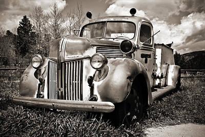 Old Firetruck Original by Marilyn Hunt