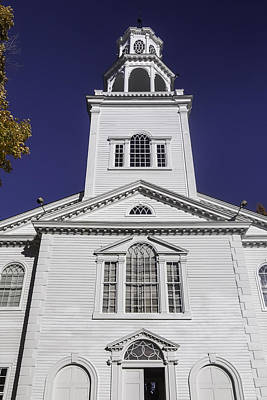Old First Church Print by Garry Gay