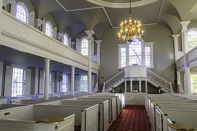 Chandler Photograph - Old First Church Interior by Garry Gay