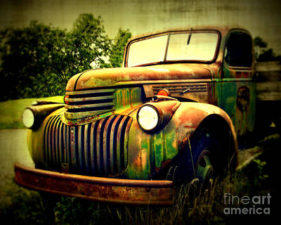 Rusty Old Trucks Photograph - Old Flatbed 2 by Perry Webster