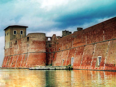 Old Fortress In Livorno Print by Sue Melvin