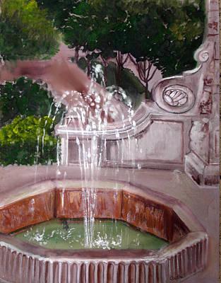 Arkansas Painting - Old Fountain by Anne Cameron Cutri