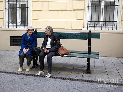 Window Bench Photograph - Old Friends by Madeline Ellis