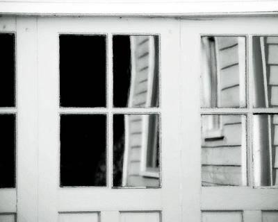 Old Garage Door Print by Bonnie Bruno