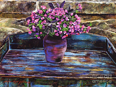 Old Garden Table Print by David Lloyd Glover