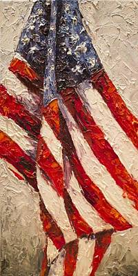 Patriotism Painting - Old Glory by Debbie Frame Weibler