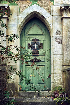 Old Gothic Door Print by Carlos Caetano