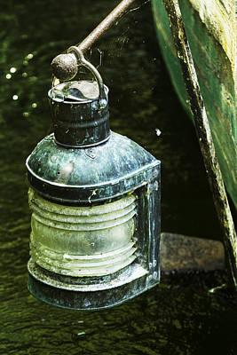 Old Green Fishing Lantern-001 Original by David Allen Pierson