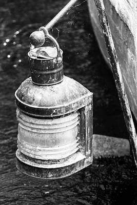 Old Green Fishing Lantern-002 Original by David Allen Pierson