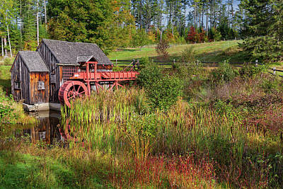 Old Grist Mill Print by Bill Wakeley