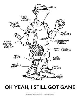 Digital Art - Old Guys Got Game by Mark Kingsley Brown