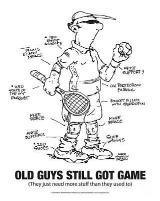 Digital Art - Old Guys Still Got Game by Mark Kingsley Brown