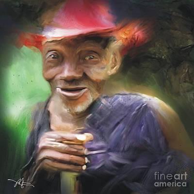 Old Haitian Field Worker Print by Bob Salo