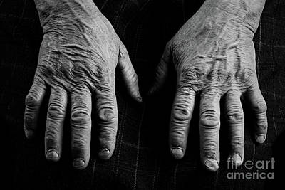 Old Hands Print by Catalin Petolea
