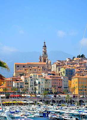 Menton Photograph - Old Harbor by Corinne Rhode