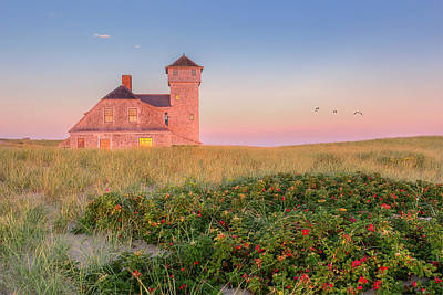 Old Harbor Life-saving Station Cape Cod Print by Bill Wakeley