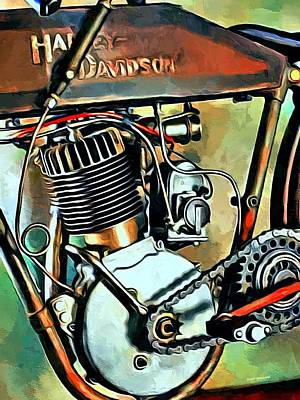 Old Harley Davidson  Print by Scott Wallace