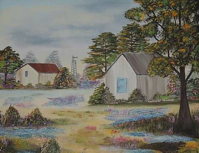 Lassen Painting - Old Homestead by Traci Hallstrom