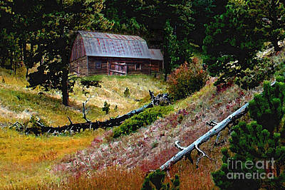 Old Horse Barn In The Draw Print by Terril Heilman