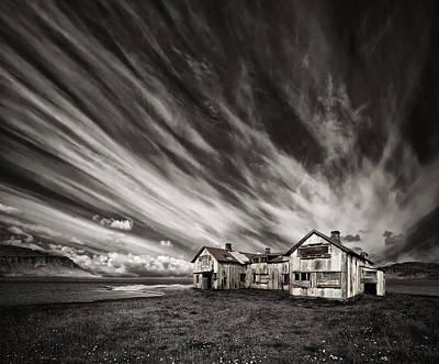 Ra Photograph - Old Hospital (mono) by Thorsteinn H. Ingibergsson