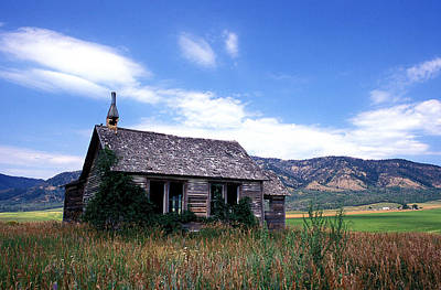 Old House In Idaho Print by Kathy Yates