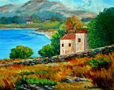 Old House In Mani Print by Constantinos Charalampopoulos