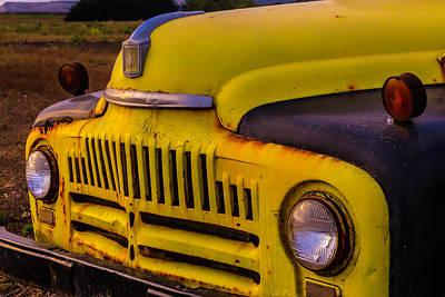 Broken Down Truck Photograph - Old International Pickup by Garry Gay