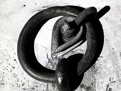 Old Iron Ring Print by John Rizzuto